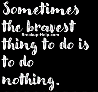 sometimes do nothing