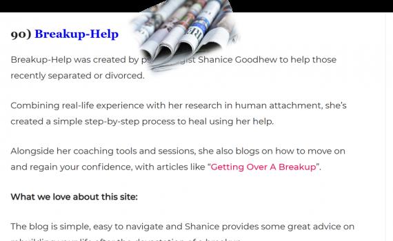 breakup-help features in top relationship blogs